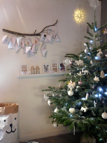 calendrier etagere sapin