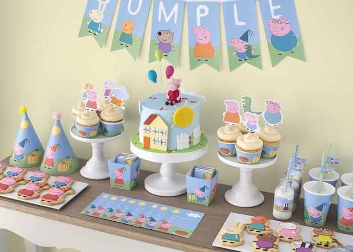 Peppa-George-Pig-Birthday-Party-via-Karas-Party-Ideas-KarasPartyIdeas.com12