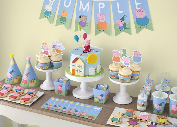 Peppa-George-Pig-Birthday-Party-via-Karas-Party-Ideas-KarasPartyIdeas.com12